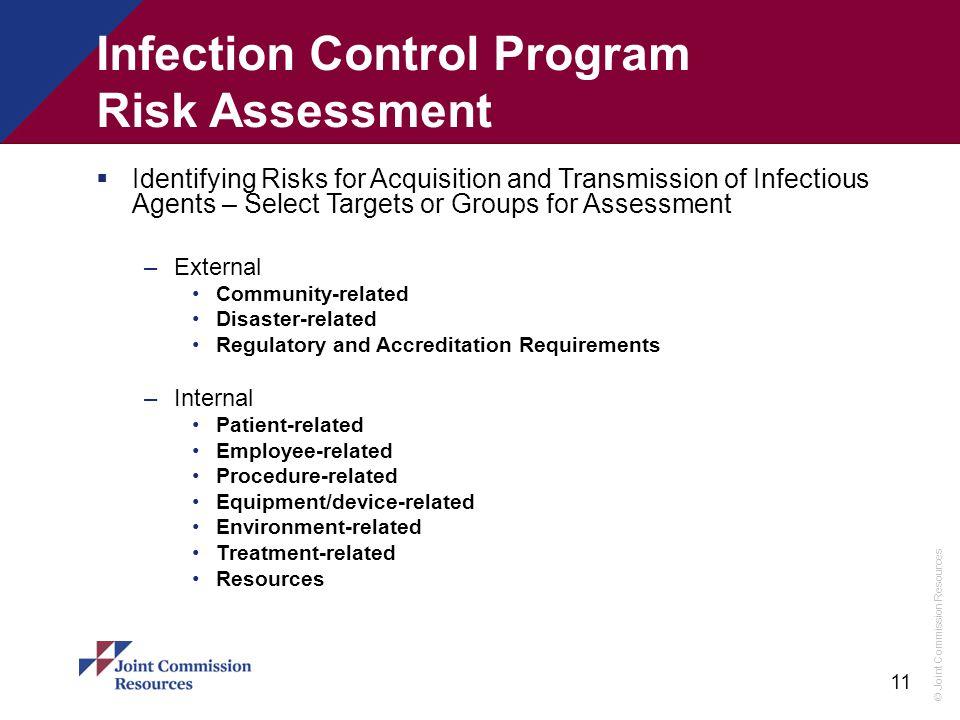 Infection Control Program Risk Assessment