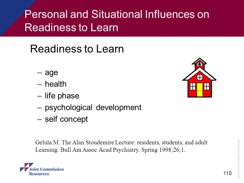 Personal and Situational Influences on Readiness to Learn