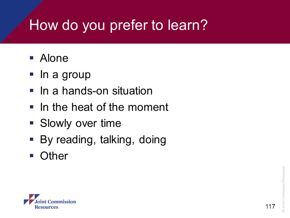 How do you prefer to learn