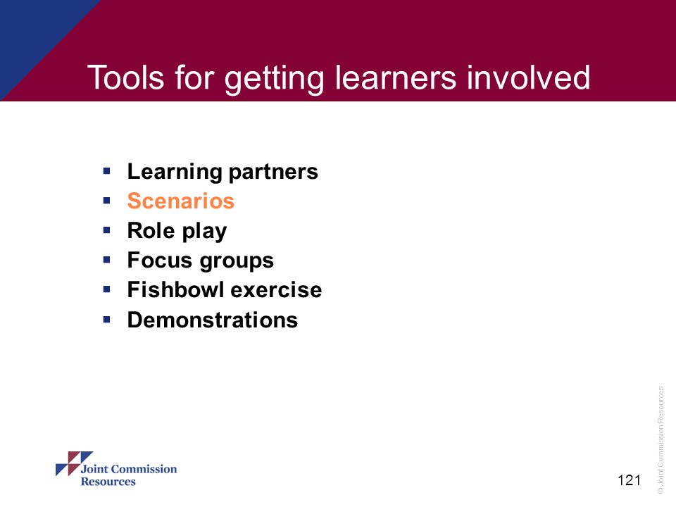 Tools for getting learners involved
