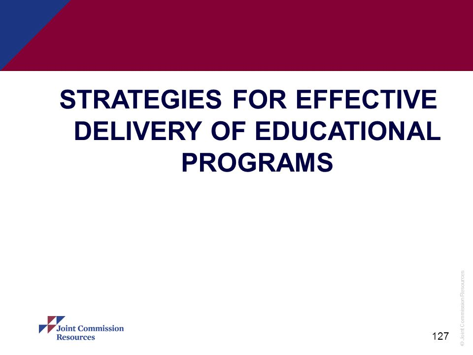 STRATEGIES FOR EFFECTIVE DELIVERY OF EDUCATIONAL PROGRAMS