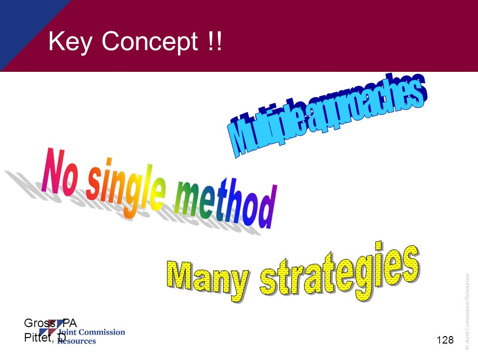 Key Concept !! Many strategies Multiple approaches No single method