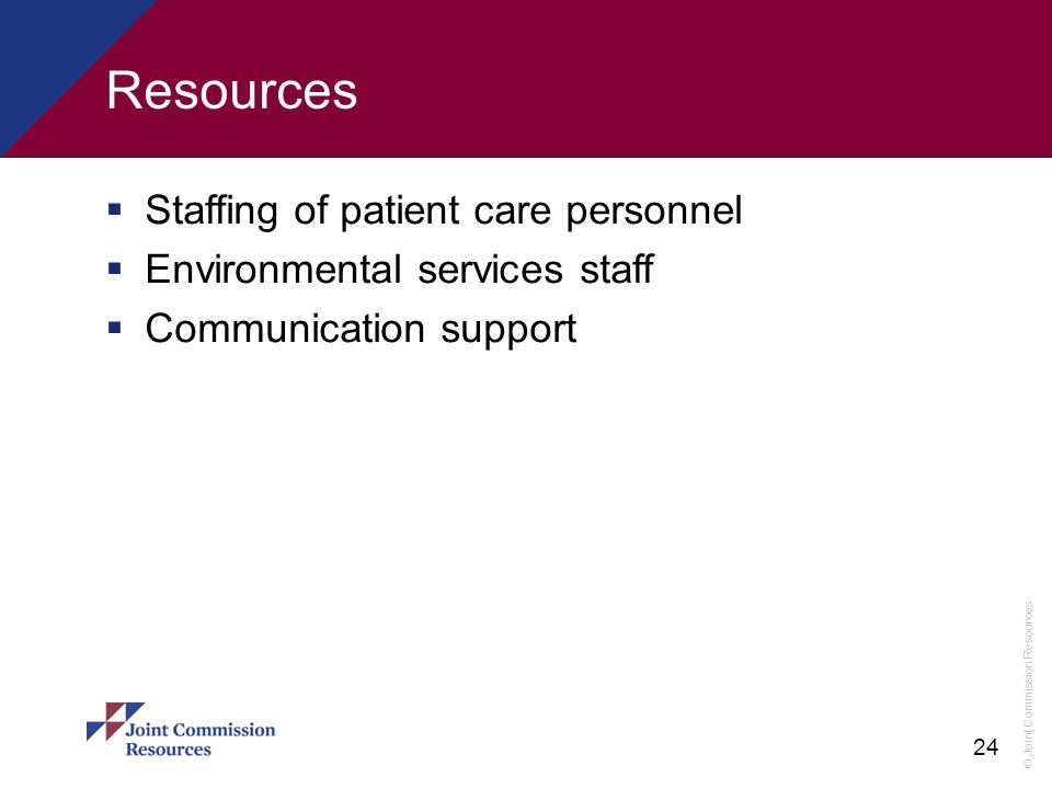 Resources Staffing of patient care personnel