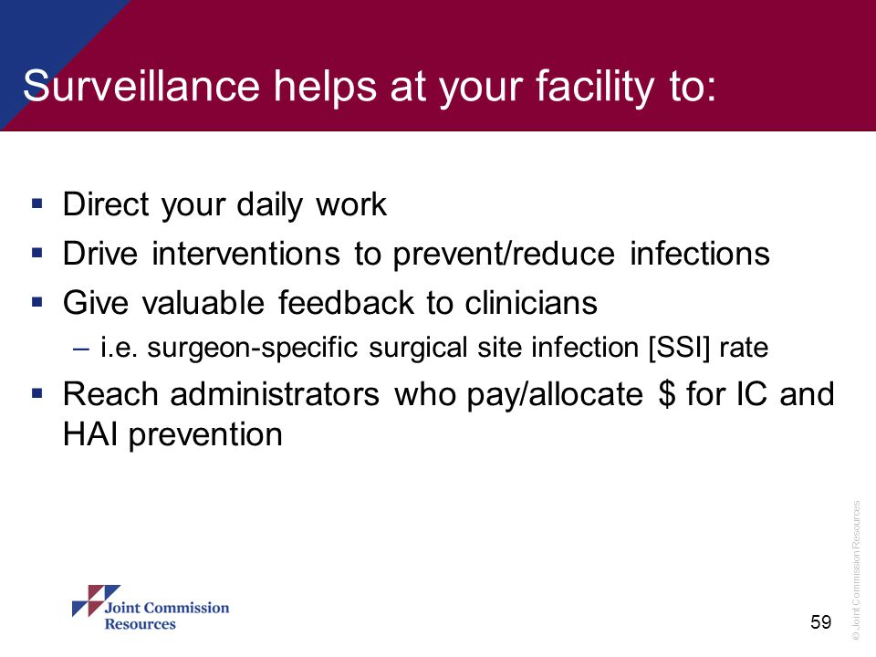 Surveillance helps at your facility to: