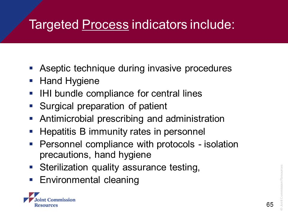 Targeted Process indicators include: