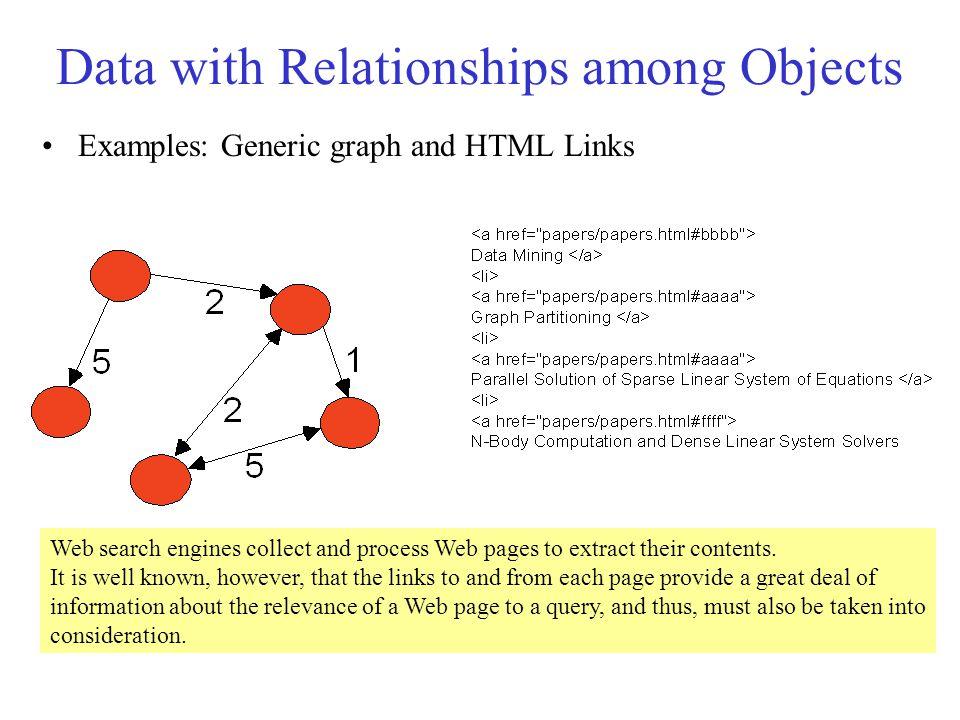 Data with Relationships among Objects