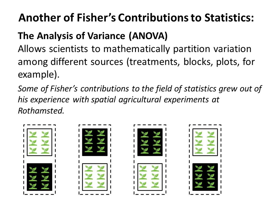 Another of Fisher's Contributions to Statistics: