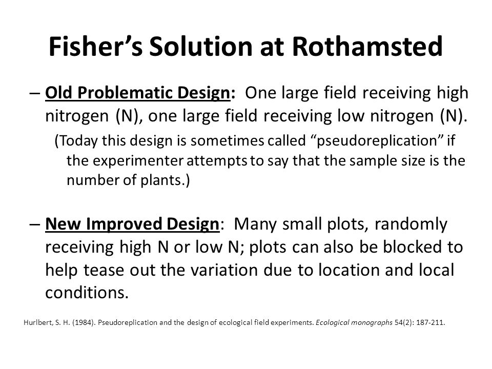 Fisher's Solution at Rothamsted