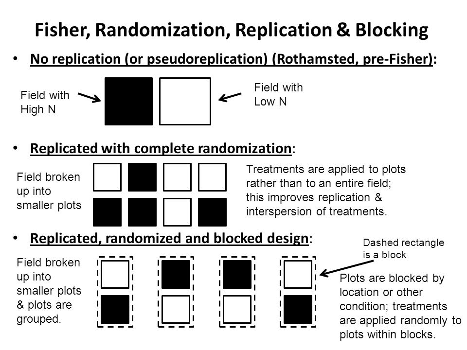Fisher, Randomization, Replication & Blocking