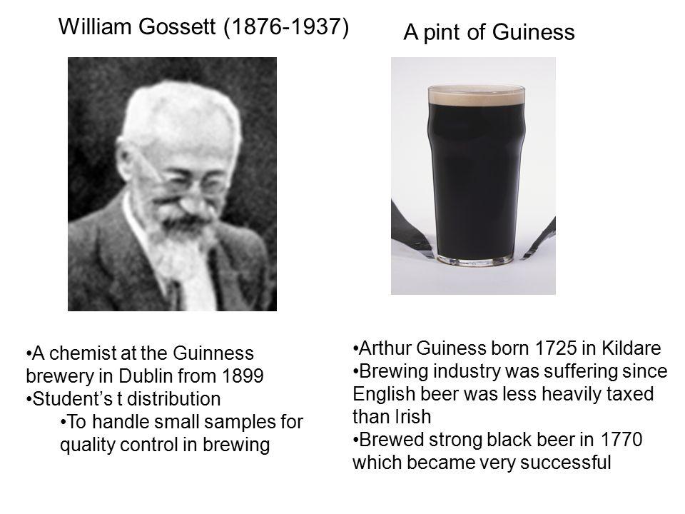 William Gossett (1876-1937) A pint of Guiness