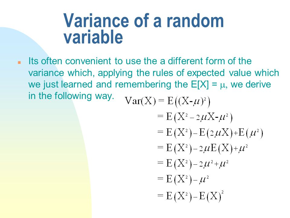 Variance of a random variable