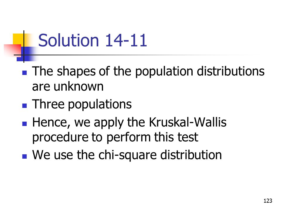 Solution 14-11 The shapes of the population distributions are unknown