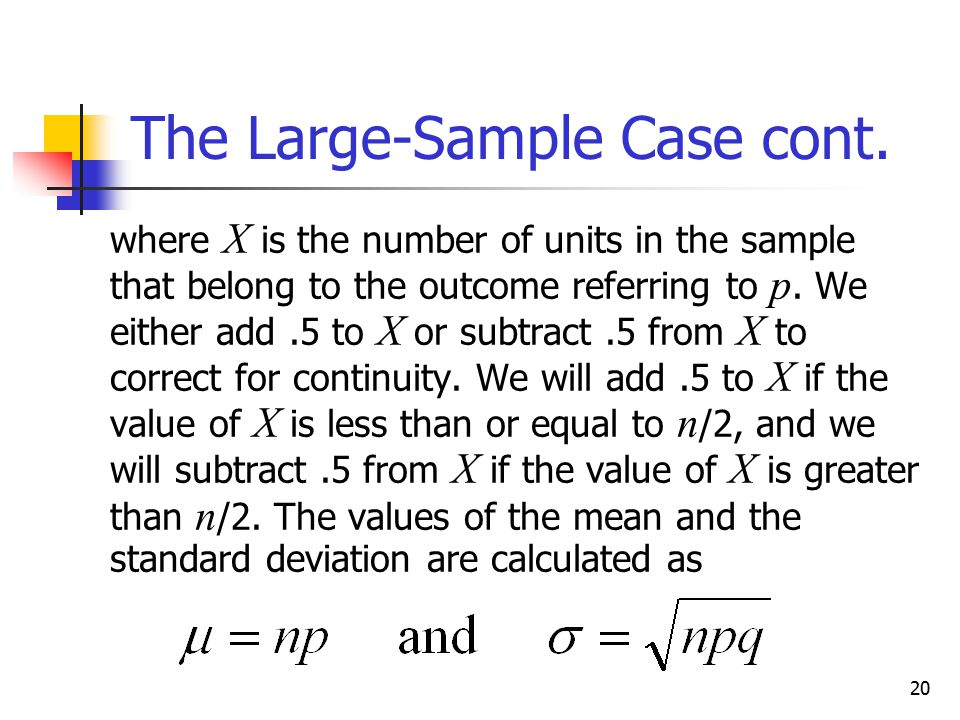 The Large-Sample Case cont.