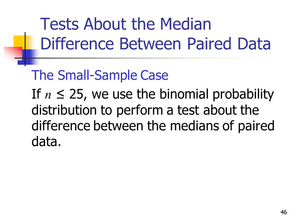 Tests About the Median Difference Between Paired Data