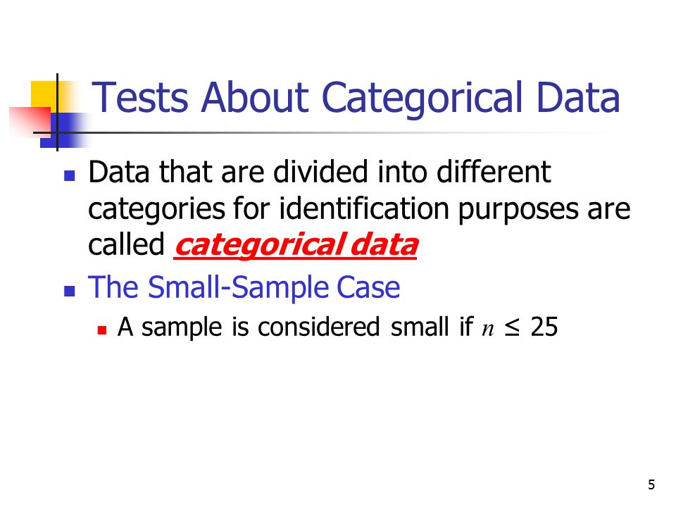 Tests About Categorical Data