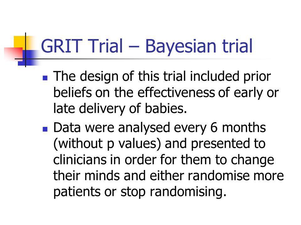 GRIT Trial – Bayesian trial
