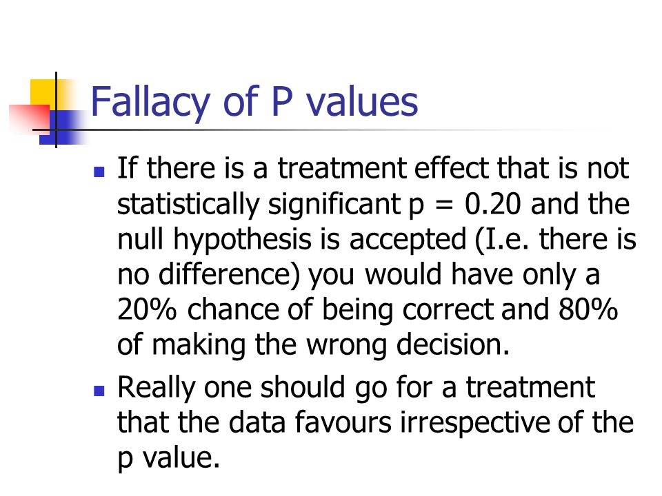 Fallacy of P values
