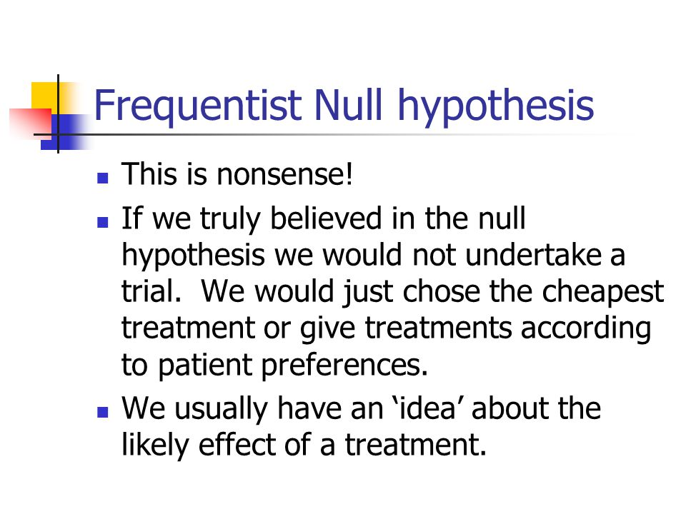 Frequentist Null hypothesis