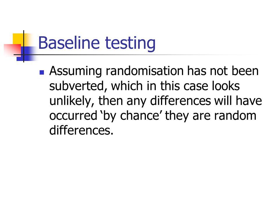 Baseline testing