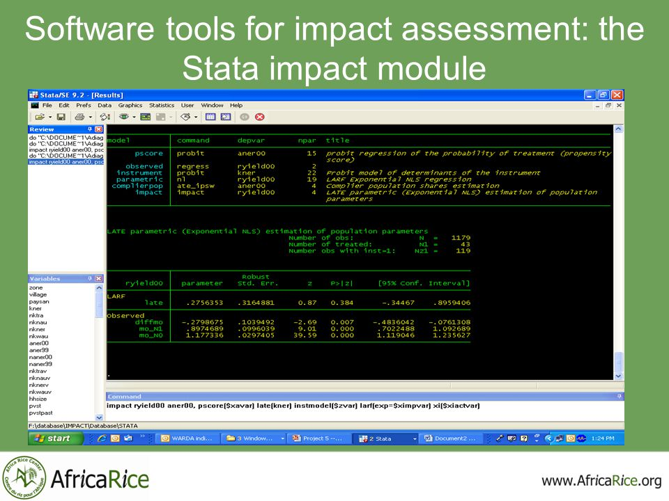 Software tools for impact assessment: the Stata impact module