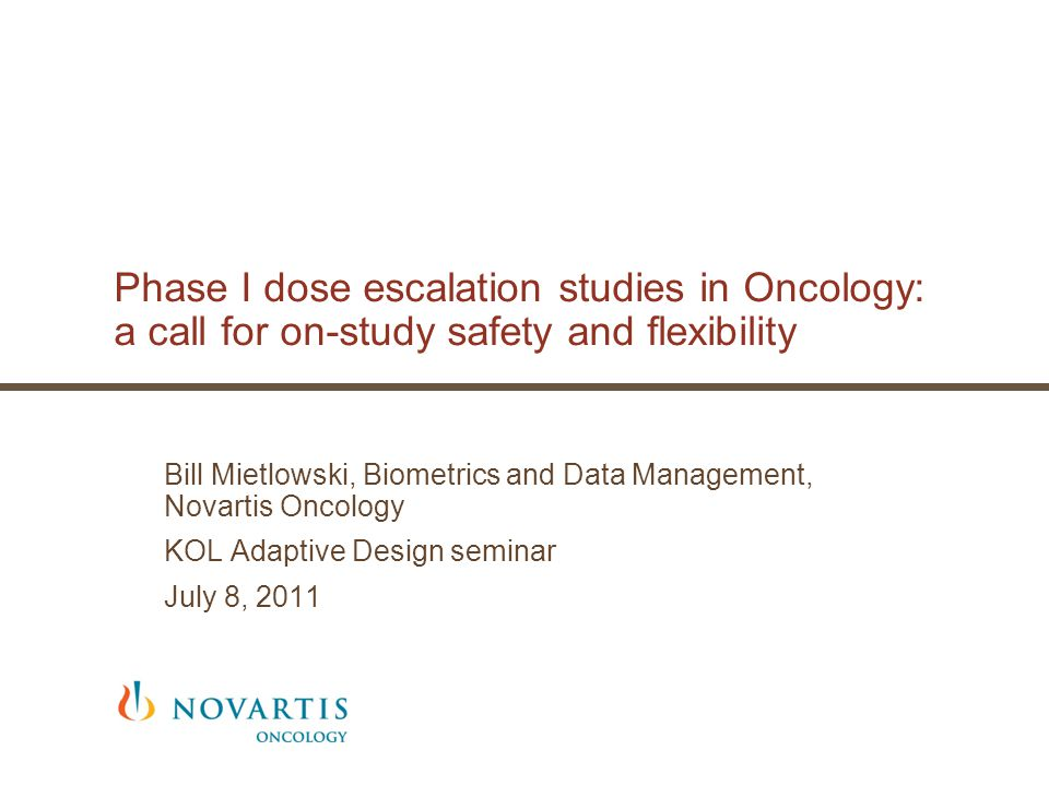 Phase I dose escalation studies in Oncology: a call for on-study safety and flexibility