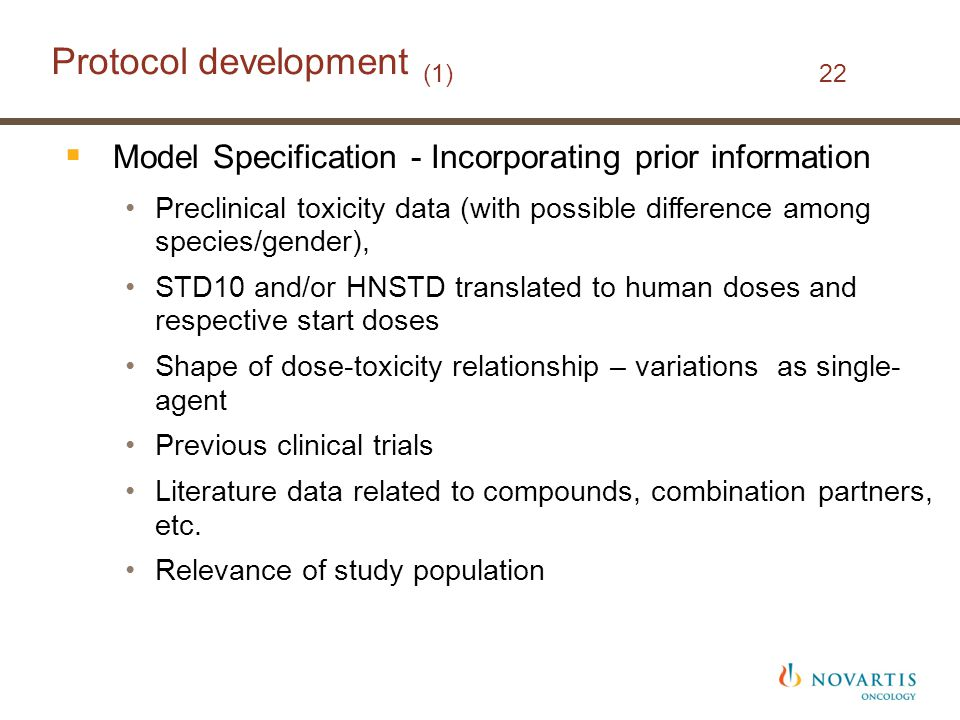 Protocol development (1) 22