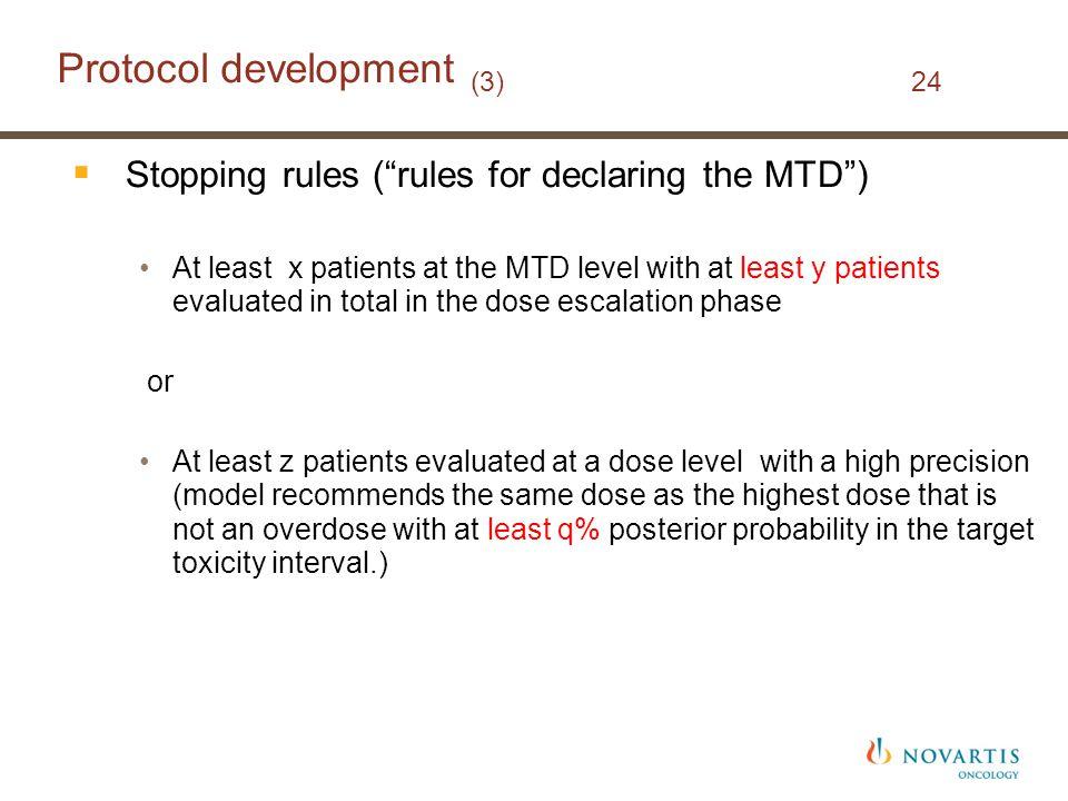 Protocol development (3) 24