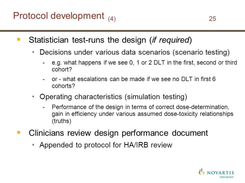 Protocol development (4) 25
