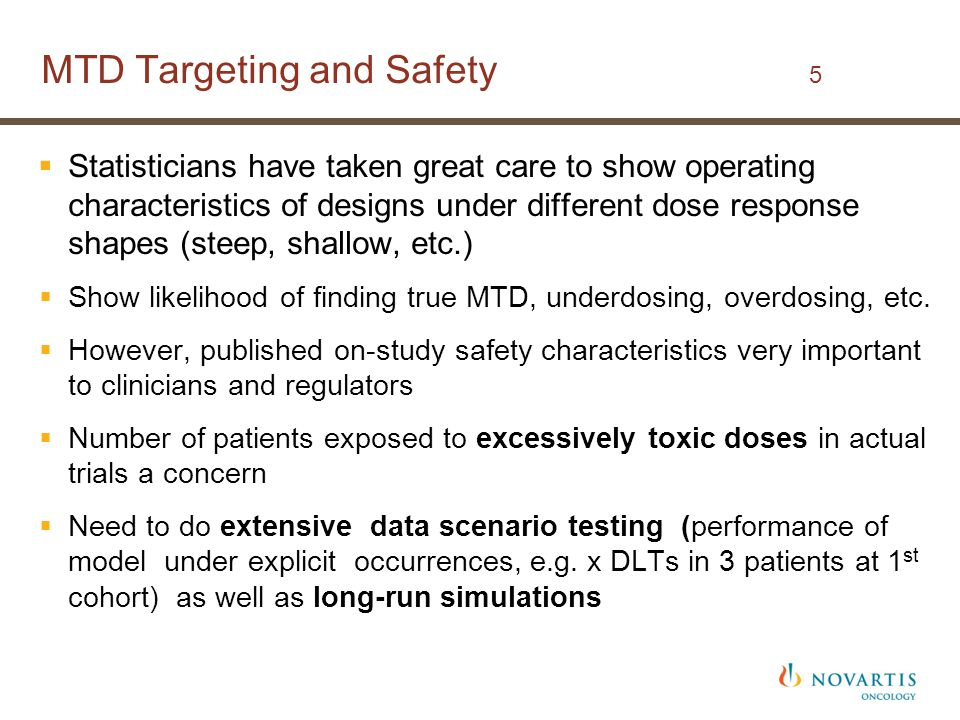 MTD Targeting and Safety 5