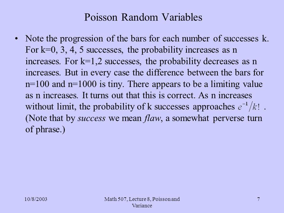Poisson Random Variables