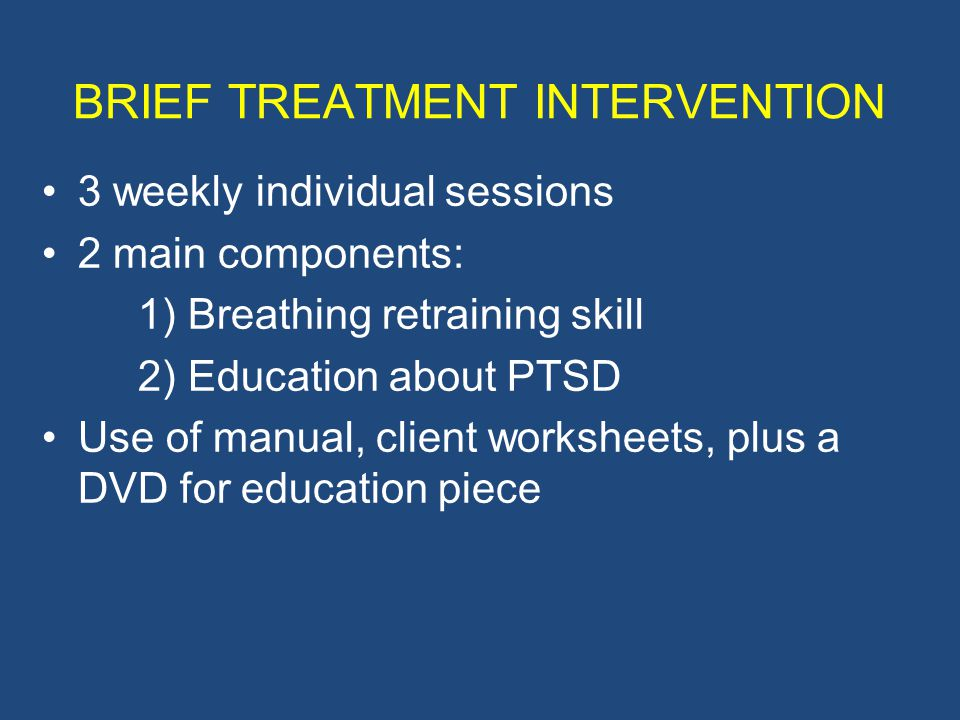 BRIEF TREATMENT INTERVENTION