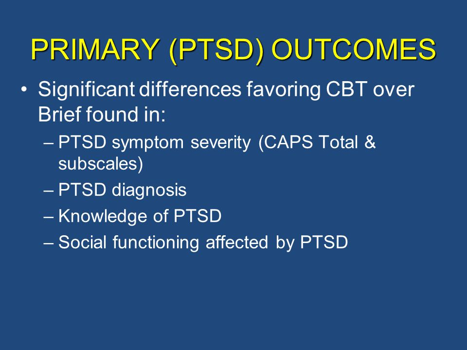 PRIMARY (PTSD) OUTCOMES
