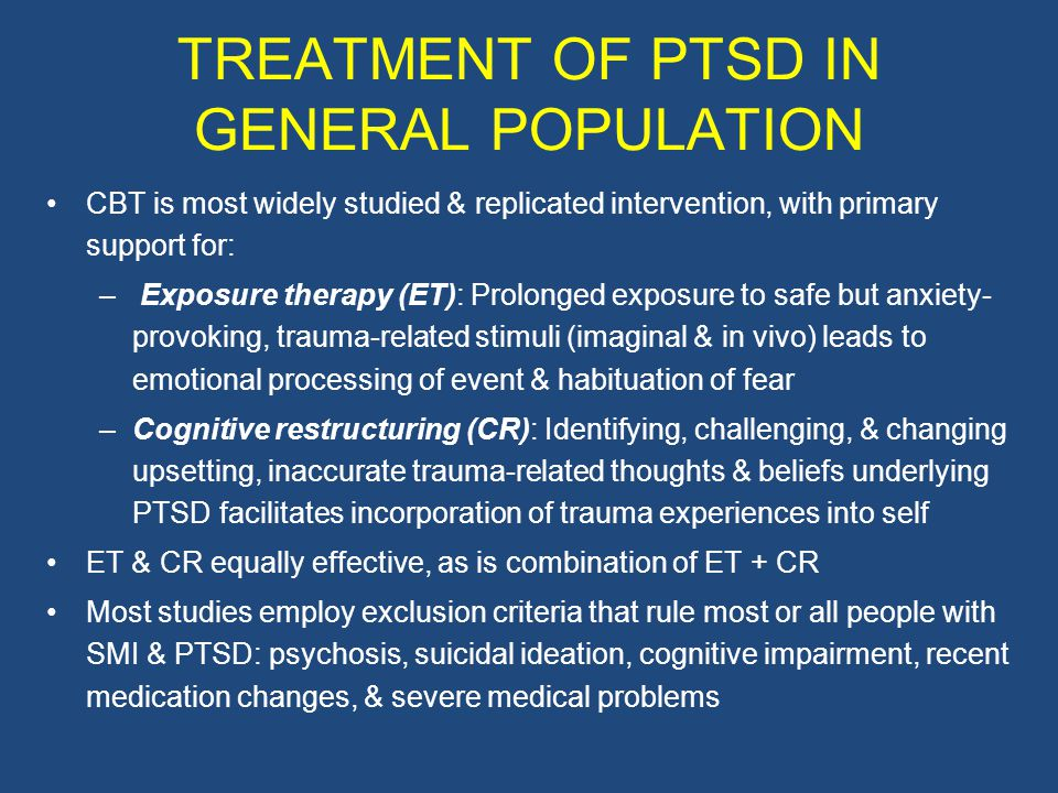 TREATMENT OF PTSD IN GENERAL POPULATION