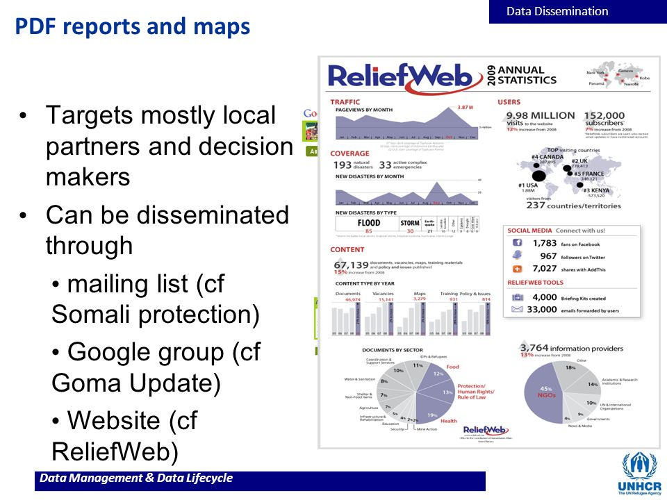 Targets mostly local partners and decision makers