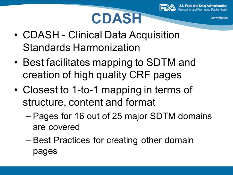 CDASH CDASH - Clinical Data Acquisition Standards Harmonization