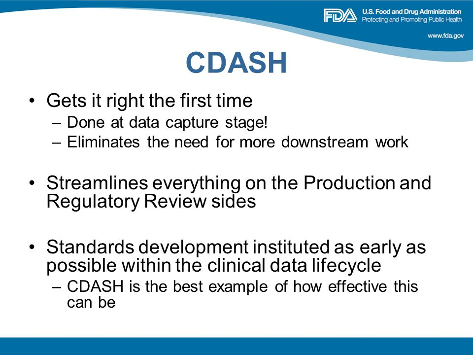 CDASH Gets it right the first time