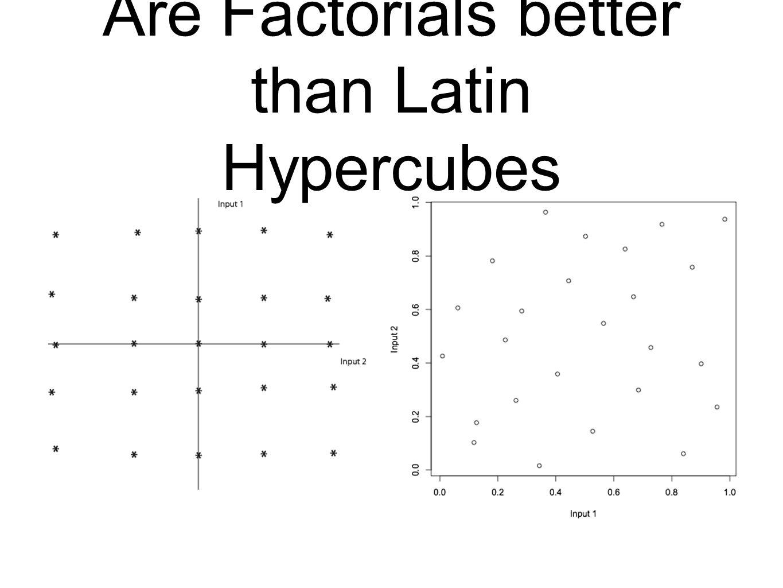 Are Factorials better than Latin Hypercubes