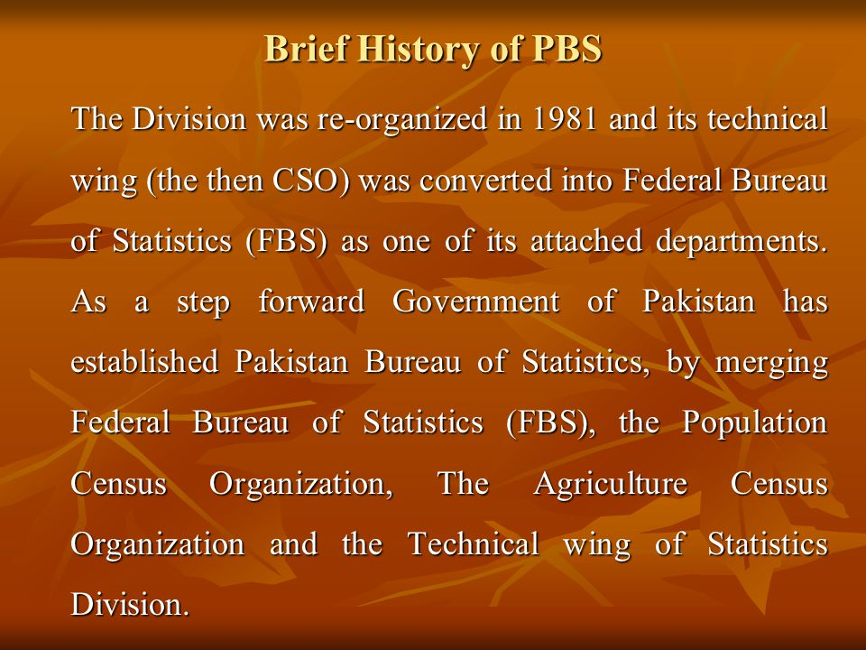 Brief History of PBS
