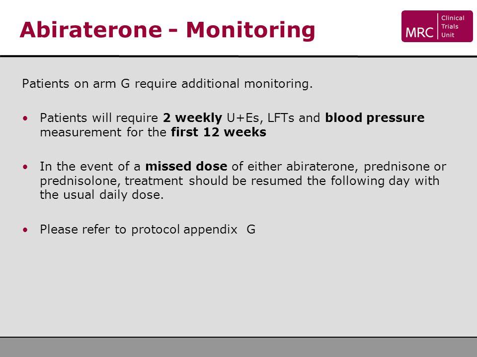 Abiraterone - Monitoring