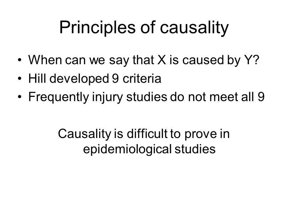 Principles of causality