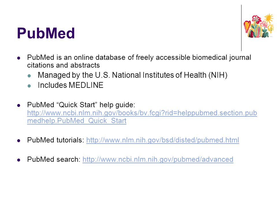 PubMed Managed by the U.S. National Institutes of Health (NIH)