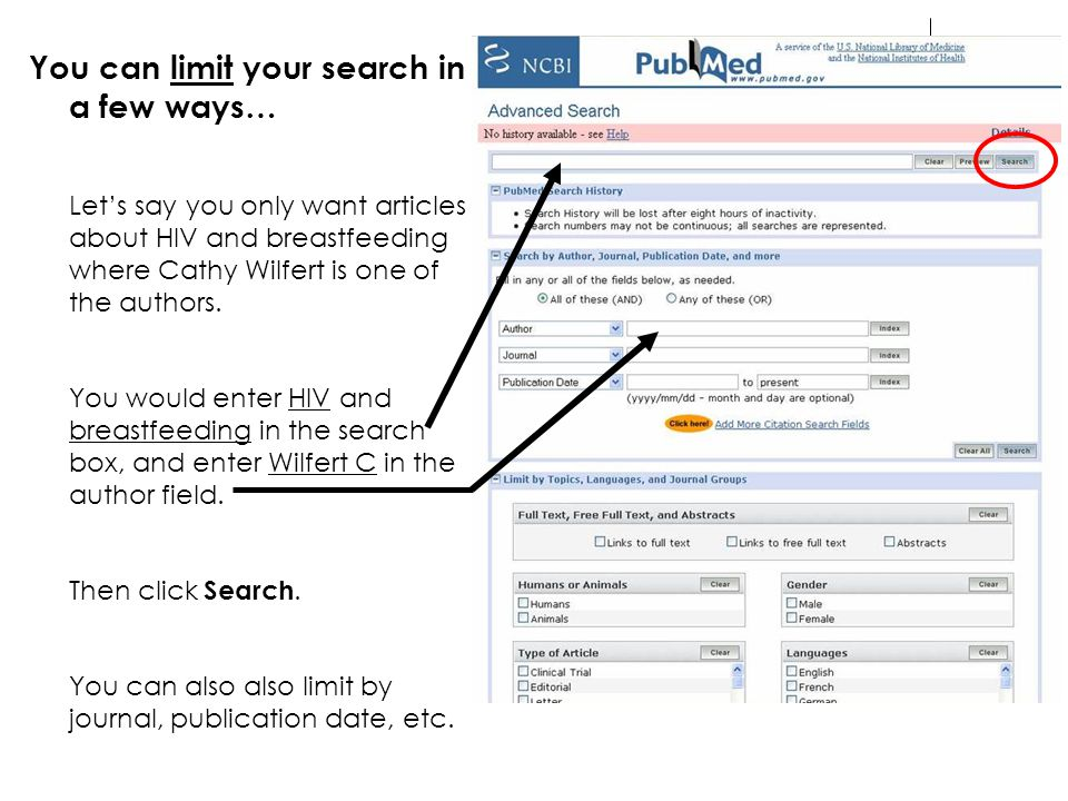 You can limit your search in a few ways…