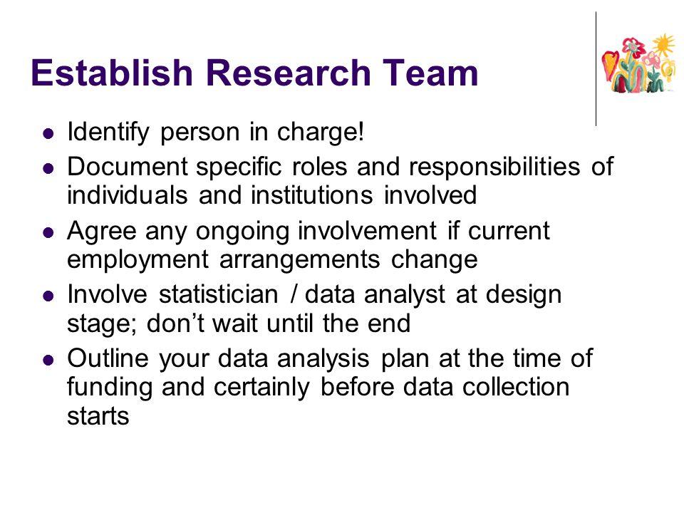 Establish Research Team