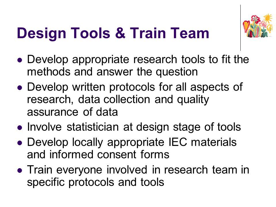Design Tools & Train Team