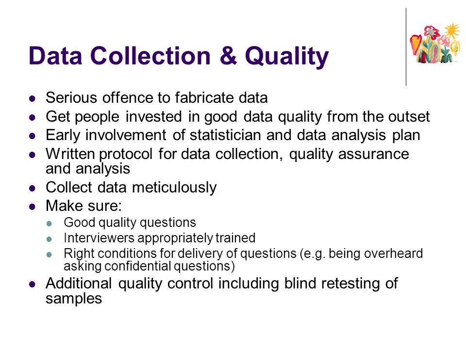Data Collection & Quality
