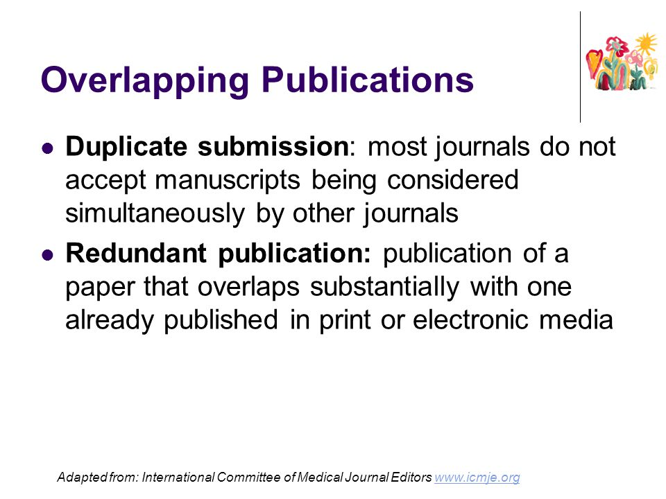 Overlapping Publications