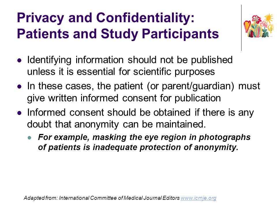 Privacy and Confidentiality: Patients and Study Participants