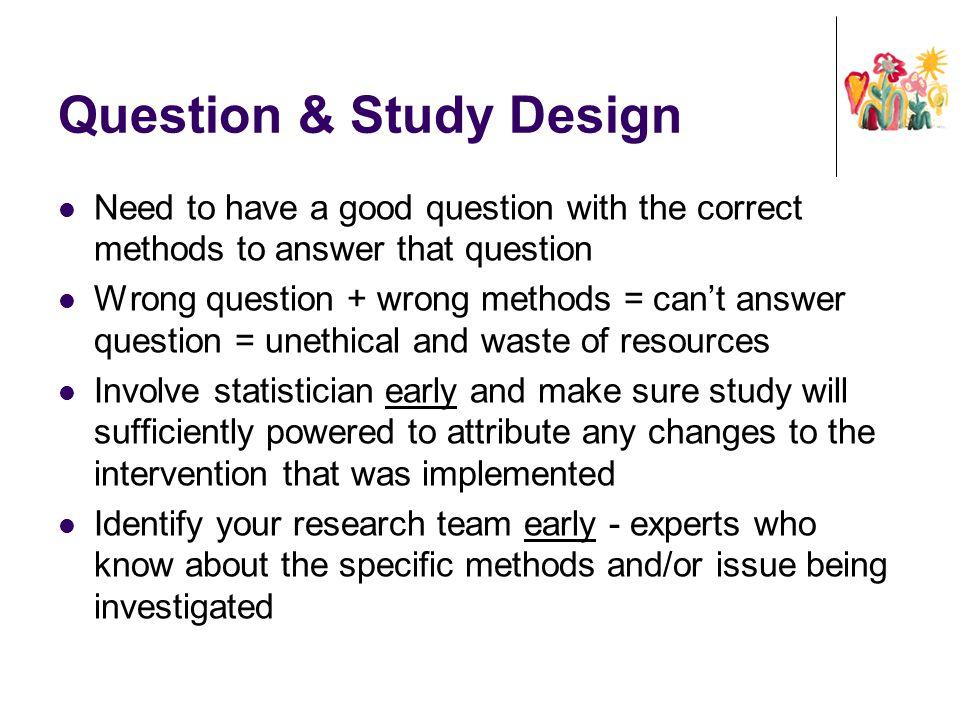 Question & Study Design