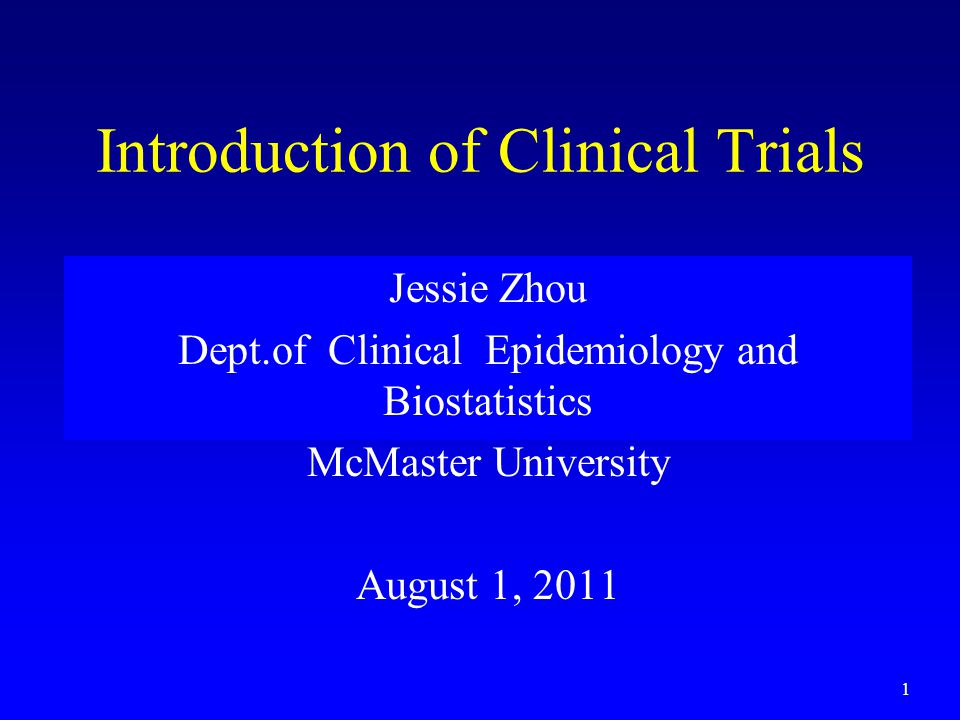Introduction of Clinical Trials