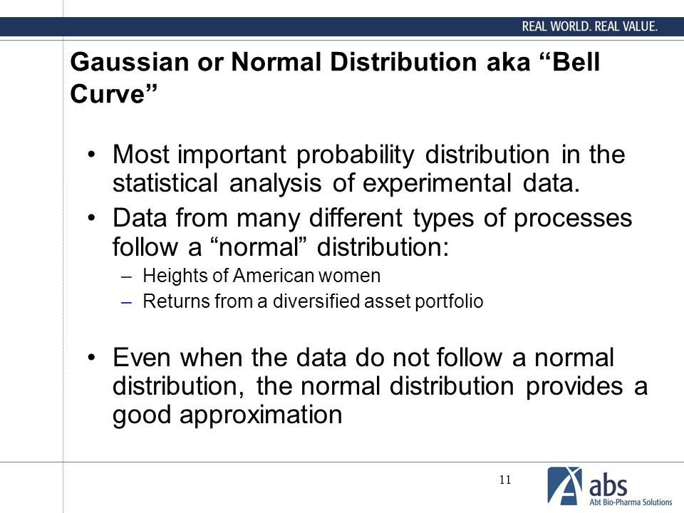 Gaussian or Normal Distribution aka Bell Curve